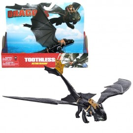 Dragons - Action Game Set - Drago Sdentato notte con le ali mobili - Toothless