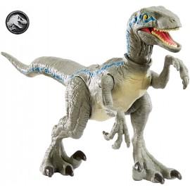 Jurassic World- Velociraptor Blue Colpo Selvaggi Dinosauro in Taglia Ridotta, Giocattolo per Bambini 4 + Anni, GFG67