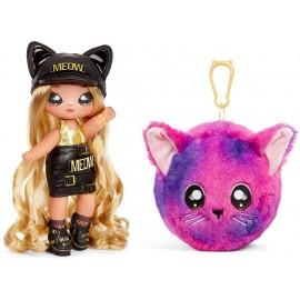 Na! Na! Na! Surprise 2-in-1 Fashion Doll And Plush Purse Series 3 – Sasha Scratch ( gatto), Giochi Preziosi NAA08000