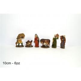 Statuine da Presepe Mestieri in poliresina da 5 -10 cm - 6 pezzi  in 1 scatola assortita - versione economia
