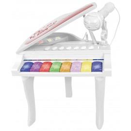 Bontempi Pianoforte a 8 Tasti con Microfono, Colore Blanc Rouge, 10 2025