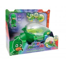 Super Pigiamini Pj Masks Veicolo Gecomobile con Luci e Suoni, Personaggio Geco Incluso di Giochi Preziosi