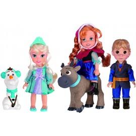 Disney Princess Frozen Set 5 Doll 18534 Bambole Mini collezzione
