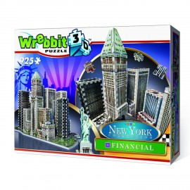 Puzzle 3D New York Financial, 925 Pezzi di Wrebbit W3D-2013