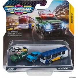 Micro Machines - Utility truck 0104 , Warlander 0105 , Bus 0106 - Possibilutà di 1 modellino raro nella confezione