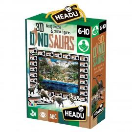 Headu 3D Dinosaurs! Giant puzzle & animal figures