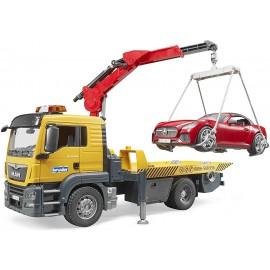 Bruder 03750,  Man Trasporto Carro Atrezzi Roadster Con Luci E Suono