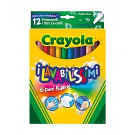Crayola pennarelli 58-8331 - I Lavabilissimi 12 Pennarelli, Punta Fine