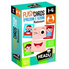 Flashcards Montessori Emozioni e Azioni di Headu IT20584