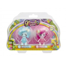 Giochi Preziosi - Glimmies Rainbow Friends Blister Doppio, Bunnybeth e Volaria