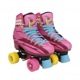 Soy Luna Pattini Professionali a rotelle, per Bambina, freno durevole, Taglia 30/31 di  Giochi Preziosi 70032331