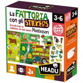 La Fattoria con Gli Stickers Montessori, Headu IT23318
