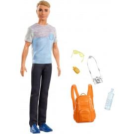 Barbie, Ken in Viaggio con accessori, Mattel FWV15