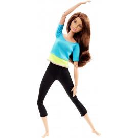 Barbie Snodata con Capelli Castani - 22 Punti Snodabili per Infiniti Movimenti di Mattel DJY08