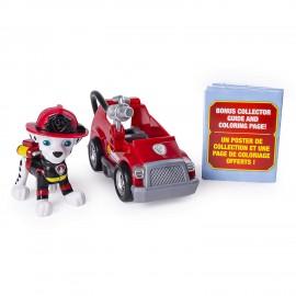 NUOVO Paw Patrol - MINI ULTIMATE RESCUE MARSHALL MINI FIRE CART COMPRESO DI PERSONAGGIO