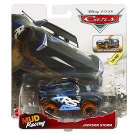 Disney Cars XRS Mud Racing Jackson Storm, Veicolo Muddy Die-cast, Mattel GBJ38