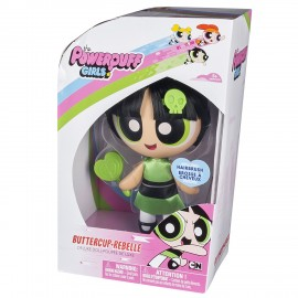 Powerpuff Girls 6028028 - Bambola Pettinabile BUTTERCUP - REBELLE - DIMENSIONE SCATOLA 10,7 x 17,8 x 25,4 cm