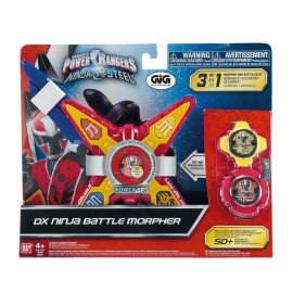 Power Ranger Ninja Steel, Ninja Battle Morpher con 2 Stelle Ninja di Giochi Preziosi PWN00000