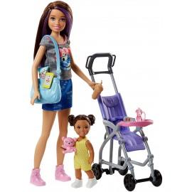Barbie Babysitters  Playset con Bambola Skipper, Bebè e Passeggino di Mattel  FJB00