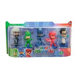Super Pigiamini PJ Masks Set 5 Personaggi di Giochi Preziosi PJM05000