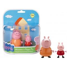 Peppa Coppia Personaggi con Mamma e Peppa Pig