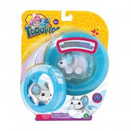 Little Live Pets Topolitos con Ruota Blu Topolino Bianco Wonder