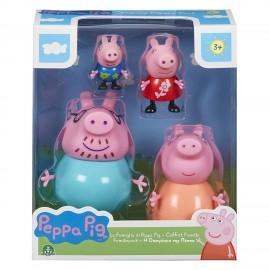 Peppa Pig Set Famiglia 4 Personaggi di Giochi Preziosi PPC27000