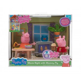 Peppa Pig con Mamma Pig in soggiorno + accessori, Giochi Preziosi PPC43000