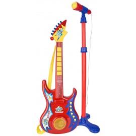 Bontempi Chitarra Rock Elettronica e Microfono da Palco, bontempi chitarra 24 7020