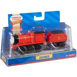 Trenino Thomas, Locomotiva James in legno funzionante a batteria di Fisher Price Y4111
