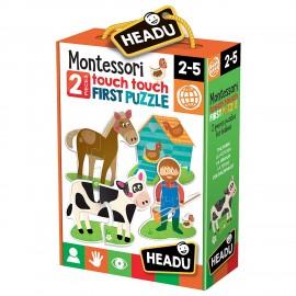 headu it20874 - montessori Touch First Puzzle, Set per bambini montessori, conoscenza del Mondo, (1)