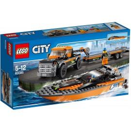 LEGO City Great Vehicles 60085 - Trasporta Motoscafo 4 x 4
