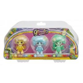 Giochi Preziosi - Glimmies Rainbow Friends Blister Triplo, Abella, Lentice e Librille