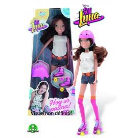 Soy luna bambola 29 cm con accessori casco e pattini