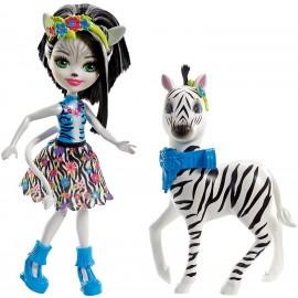 Enchantimals- Zelena la Zebra cavalcabile e Hoofette di Mattel FKY75