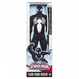 Marvel Ultimate Spider-Man Titan Hero Series Black Suit Spider-Man Figure 30 cm