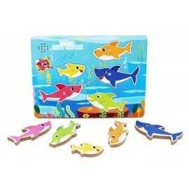 Puzzle Baby Shark in Legno ad incastro. Riproduce La Canzoncina Baby Shark Doo Doo Doo di Spin Master
