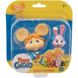 Topo Gigio-Mini Gigio & coniglietta rosa di Grandi Giochi TPG01000