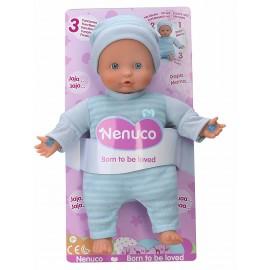 Nenuco - Bambola 3 funzioni nuovo modello : pigiama colore blu, (Famosa 700013382)
