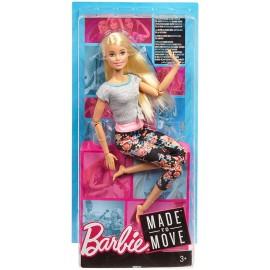 Barbie snodata con 22 punti di snodo con Capelli Biondi e Abiti da Yoga di Mattel FTG81