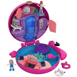 Polly Pocket - Set Piscina dei Fenicotteri con Nuovo Cofanetto, 2 Dolls di Mattel FRY38