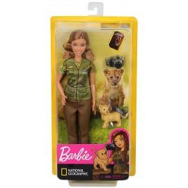 Barbie- Carriere Fotoreporter con Cucciolo di Leone, Ispirata a National Geographic, Mattel GDM46-GDM44