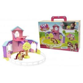 Pet Parade Pony Playset Ranch con Pony Esclusivo e Accessori di Giochi Preziosi PTN03000