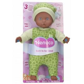 Nenuco - Nuovo Modello Bambolotto 3 Funzioni con pigiama colore verde (Famosa 700013382)