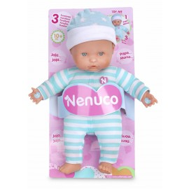 Famosa 700012662 - Nenuco Soft Bambola, 3 Funzioni, Azzurra