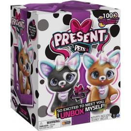 Present Pets Cucciolo Rainbow Glitter interattivo di Spin Master