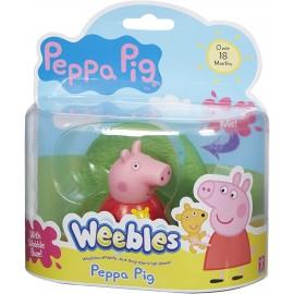 Peppa Pig Weebles, sempre in piedi, + 18 mesi, Giochi Preziosi CCP05110