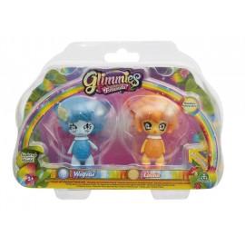 Giochi Preziosi - Glimmies Rainbow Friends Blister Doppio, Wolfélie e Linxia