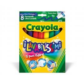 Crayola pennarelli 58-8328 - I Lavabilissimi 8 Pennarelli, Punta Maxi