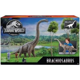 Jurassic World mattel -  Brachiosauro Dinosauro Alto Oltre 70 cm Giocattolo per Bambini 4+ Anni, GNC31